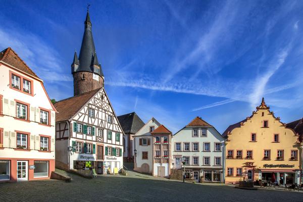 Marktplatz in Ottweiler, Saarland