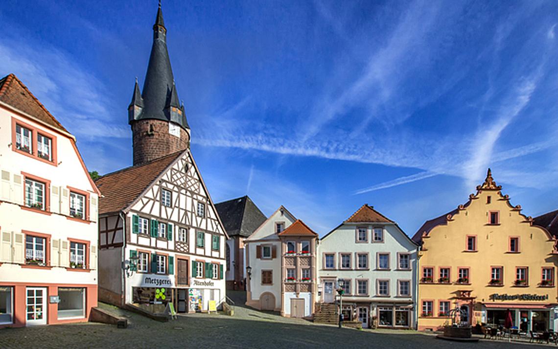 Marktplatz in Ottweiler  (Quelle: bildtankstelle.de)